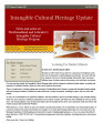 No. 030. Intangible Cultural Heritage Update (October-November 2011)