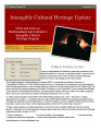 No. 029. Intangible Cultural Heritage Update (September 2011)