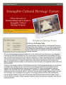 No. 025. Intangible Cultural Heritage Update (May 2011)