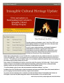 No. 019. Intangible Cultural Heritage Update (October 2010)
