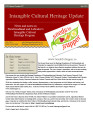 number 027 Intangible Cultural Heritage Update (July 2011)