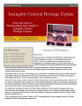 Intangible Cultural Heritage Update, number 036 (August 2012)