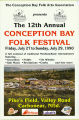 Conception Bay Folk Festival. 12th annual (1990)