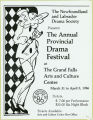 Newfoundland and Labrador Drama Festival. [36th annual] (1986)