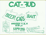 Beer, Cigs, Bait (Text only version of poster)