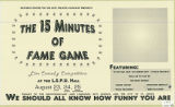 The 15 Minutes of Fame Game: Live Comedy Competition