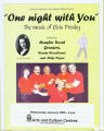 One Night With You: The Music of Elvis Presley