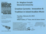 Creative Currents : Innovation & Tradition in Island Acadian Music