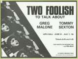 Two Foolish to Talk About (1984) [Duplicate]