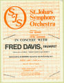 St. John's Symphony Orchestra In Concert With Fred Davis