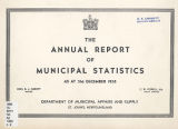 The Annual Report of Municipal Statistics (1958)