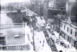 01.03.008: Duckworth Street, St. John's. Church Lads Brigade Band parade, 1 July, 1926