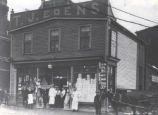 (01 08 007) Rawlins Cross, St. John's. T. J. Eden's Grocery Store, exterior view, includes horse...