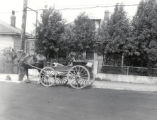 (01 10 004) Transport, St. John's. Horse and cart in front of house