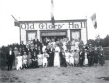 (02 02 031)  Churches, St. John's. Old Glory Hall on Topsail Road, wedding party ca. 1930's