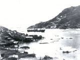 03.03.008: The Narrows, St. John's. Steamer entering the harbour, with the Lower Battery in the...