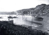 03.06.016: Drydock, St. John's. S.S. Metagama, aground in the harbour, 12 July 1924