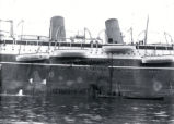 03.06.020: Drydock, St. John's. S.S. Metagama, aground in the harbour, 12 July 1924