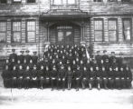 04.01.005: Salvation Army, St. John's. Salvation Army Congress portrait, taken outside of their...