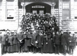 04.01.006: Salvation Army, St. John's. Group of officers outside of their headquarters on...