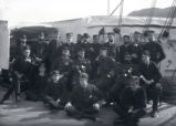 04.02.002: Military and Cadets, St. John's. Naval group on the deck of a ship, 1889-1897/8