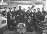 04.02.006: Military and Cadets, St. John's. H.M.S. Tenedos Band on deck, December 1884