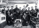 04.02.007: Military and Cadets, St. John's. H.M.S. Tenedos Band on deck, December 1884
