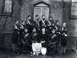 04.02.010: Military and Cadets, St. John's. Church Lads Brigade in front of Bishop Feild College,...