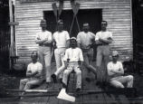 "06.01.002: Regatta/Rowing, St. John's. ""Academia Boat Club"" rowing team, 1889"