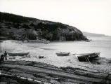 07.02.005: Torbay and area. Nets and dories, Middle Cove beach, probably pre-1930