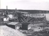 11.04.002: Clarenville. Large wooden ship being built at Clarenville