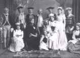 26.02.001: People, Unidentified. Group of actors, men and women, in costume, post-1892