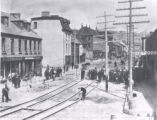 31.01.025: St. John's and Environs. Laying of street car tracks and paving stones, 1899?