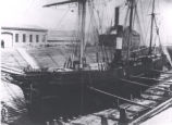 (31 02 036) Ships. S.S. Walrus (sealing steamer) on Drydock, pre-1909