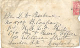 1.03.001: Various Correspondence ,January 1918, Envelope addressed to L.H. Barbour
