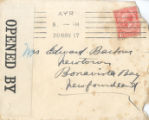 1.02.008 Various Correspondence November 1917, Envelope addressed to Mrs Edward Barbour