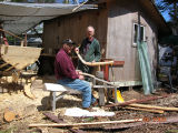 Casey, J. Jack Casey shaping timber (2)