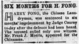 Six Months for H. Fong