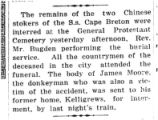 Two Chinese stokers were buried at the General Protestant Cemetery