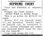 Supreme court: Hong Wee vs. Kong Wah