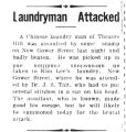 Laundryman attacked