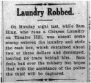 Laundry robbed