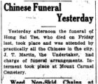 Chinese funeral yesterday