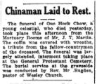 Chinaman laid to rest
