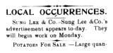 Local occurrence: Sung-Lee & Co.