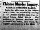 Chinese murder inquiry: medical evidence taken