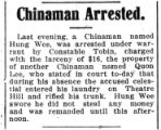 Chinaman arrested