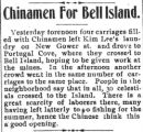 Chinamen for Bell Island