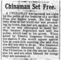 Chinaman set free