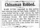 Chinaman robbed